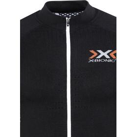 X-Bionic The Trick Maglietta da ciclismo a maniche lunghe con zip intera Uomo, black/white